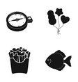 here water cafe and other web icon in black vector image