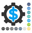 Financial options icon vector image
