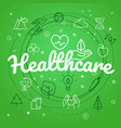 healthcare concept different thin line icons vector image vector image