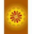 mandala of fire and light vector image vector image