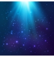 Bright blue cosmic light background vector image