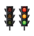 traffic lights isolated vector image vector image