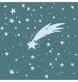Hand-drawn shooting star vector image