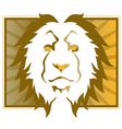 lion head art vector image