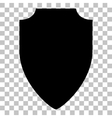 Shield sign  Flat style black icon on vector image