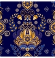 Dark blue indian seamless pattern vector image