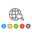 global search line icon world sign vector image