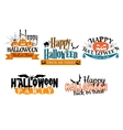 Halloween scary banners vector image