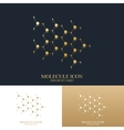 Modern set logotype icon dna and molecule vector image
