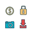 set digital virtual secure vector image