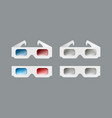 set of 3d glasses vector image