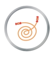 Skipping rope cartoon icon for web vector image