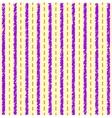 Striped yellow purple pattern vector image