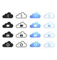 Cloud computing icons - set 3 vector image vector image