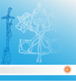 new pope with argentina flag vector image vector image