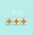 christmas background with gifts boxes with a gold vector image