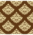 Yellow and brown floral seamless pattern vector image