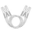 Car jumper power cables Contour vector image