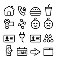 Website application line icons set vector image vector image