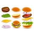 hamburger with cheese vector image vector image