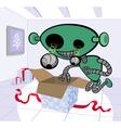 happy robot vector image vector image
