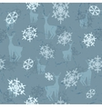 deer with snowflakes vector image