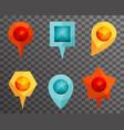 landmark and showplace symbol map pointer mark vector image
