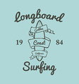 Longboard surfing typography t-shirt graphics vector image