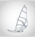 man windsurfing vector image