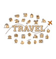 monochrome travel related concept vector image