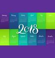 planner 2018 gradient background lettering vector image