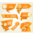 Set of orange progress version step icons eps 10 vector image