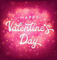valentines day greeting card with blurred hearts vector image