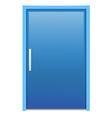 Blue door vector image