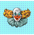vintage clown pop art comic style poster vector image