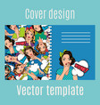 cover design with popart women pattern vector image
