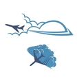Airplanes in sky vector image