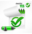 checkmark on checklist vector image vector image