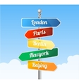 Direction road signs Europe vector image