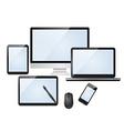 Set of modern digital devices vector image