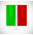 Two red flag on stand vector image vector image