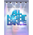 Disco background All night dance poster vector image