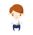 a boy character in white shirt vector image