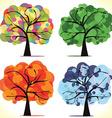 Abstract seasonal trees vector image