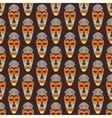 African mask seamless pattern vector image