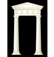 classic columns drawing vector image