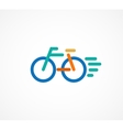 colorful bicycle icon and symbol vector image