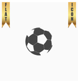 Football ball - soccer flat icon vector image