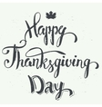 Happy Thanksgiving day hand lettering vector image