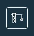 lifting hook outline symbol premium quality vector image